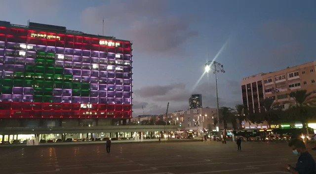 Live from Tel Aviv: A rare moment of solidarity 🇮🇱🇱🇧 (📸: @TelAviv)