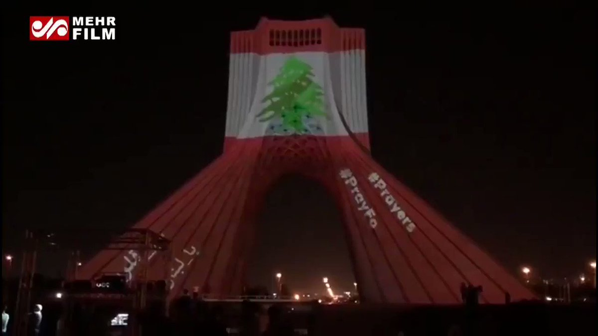 Lebanon in our hearts  #Iran pic.twitter.com/0JsVZ32pyg