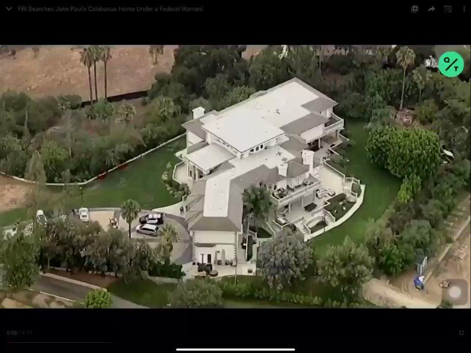 FBI search Jake Paul's house under Federal warrant.