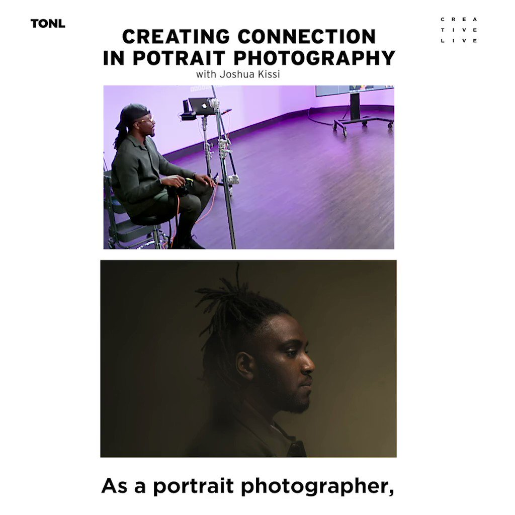 Photography is about connection. @JoshuaKissi will show you how to connect with style and impact in his class ▷https://t.co/FcYiLQuyVK https://t.co/5rQmeNybpr