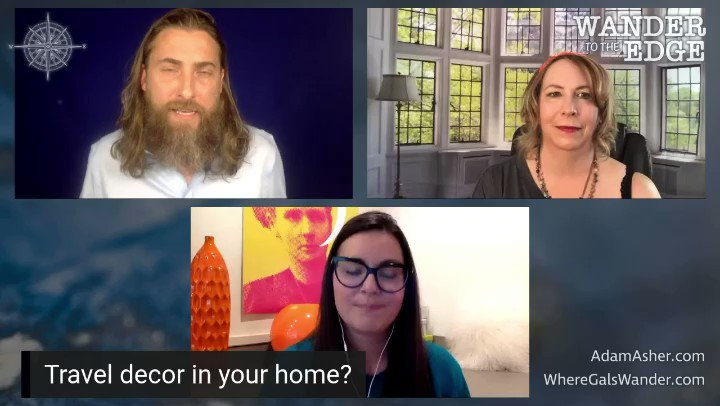 Clip: Travel Decor in Your Home? Nicolette Orlemans joins us to play her card game Travel Banter, and Adam talks about his...armadillo Join our #DinnerPartyChallenge and share your answers below. -Zanne with @Nicolette_O @adam_asher #TravelBanter #CultureTrav #WanderToTheEdge