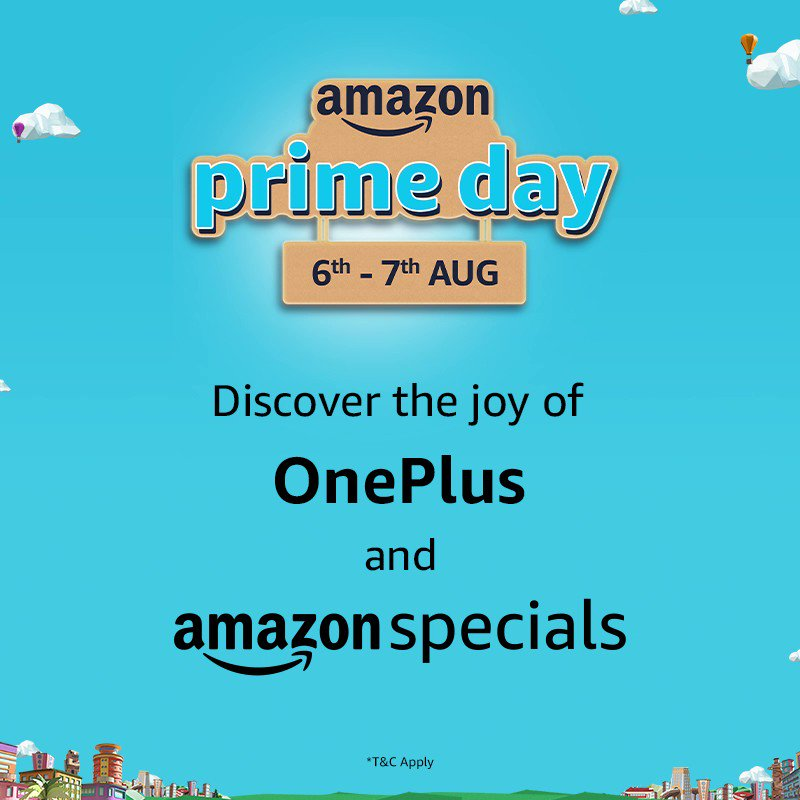 The best time to buy smartphones is here! Get amazing deals and discounts on the latest #OnePlus phones during #AmazonPrimeDay https://t.co/22q28tSuWN