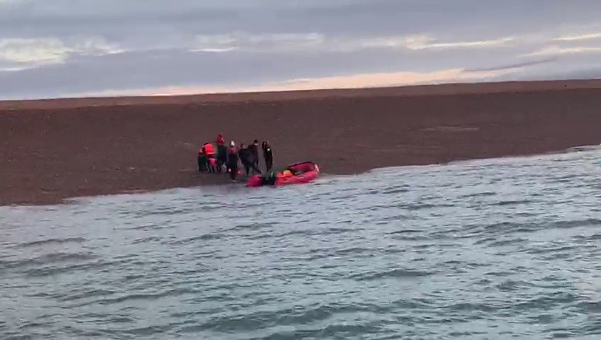 EXCLUSIVE FOOTAGE OF BEACH LANDING BY MIGRANTS  Shocking invasion on the Kent Coast taken this morning. https://t.co/iuzAF0Uxz4