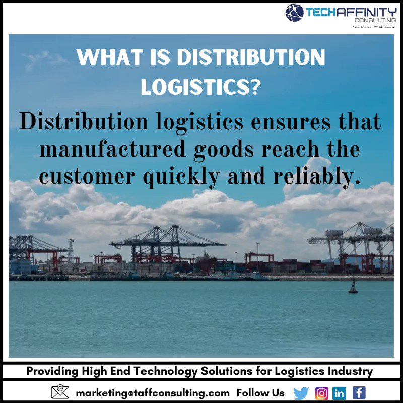What is distribution logistics? #logistic #supplychain #technology #business #software #webdevelopment #website #softwaredevelopment #software #DigitalTransformation #taffindia #digitalindiapic.twitter.com/rLAjLY1cKK