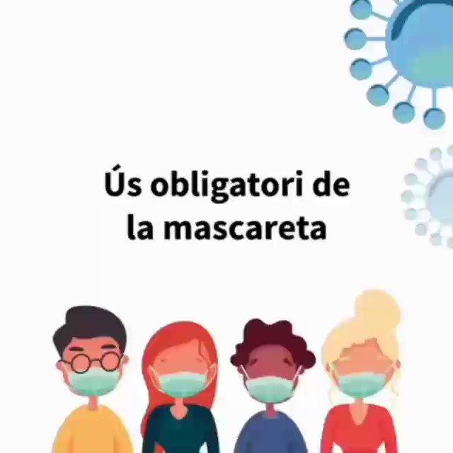 👍 L'ús de la mascareta evita contagis i que hi hagi nous brots   ⛔️ Frenar la cadena de contagis de #COVID19 és a les nostres mans 🙌  #laCiutatEndavant