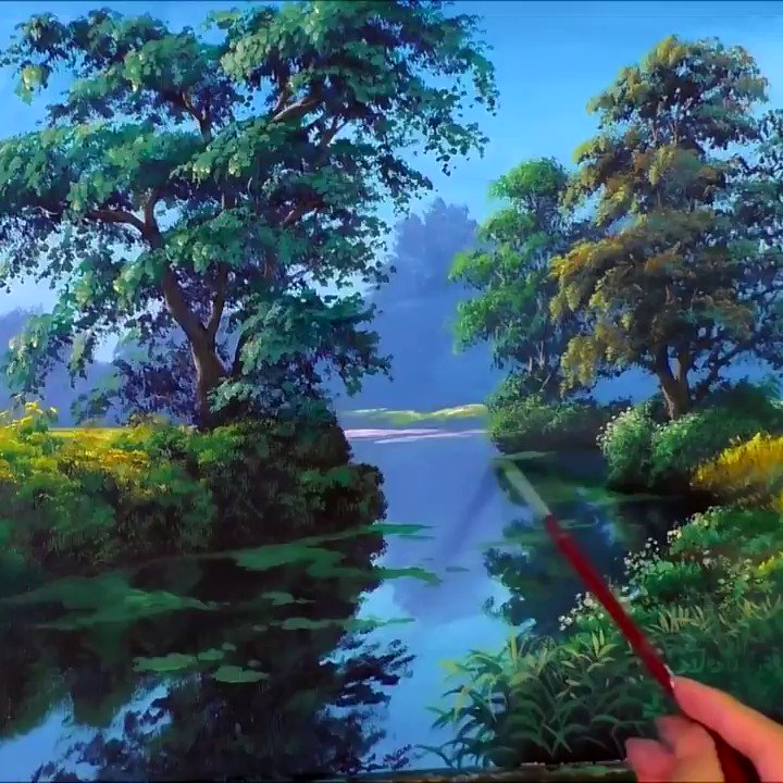 Image for the Tweet beginning: Just some beautiful landscape art