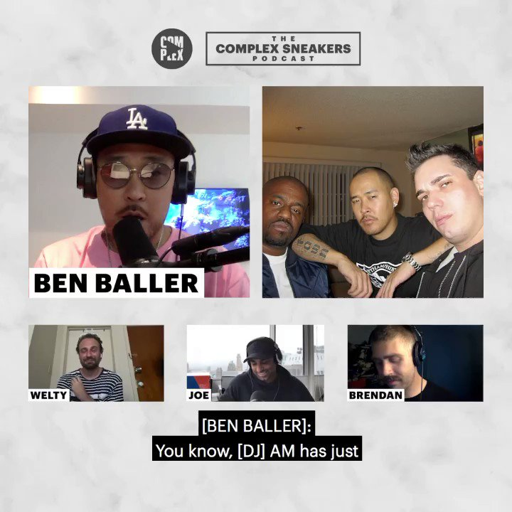 ".@BENBALLER joins @JLaPuma, @brendandunne, and @MatthewJWelty on the latest episode of the ""Complex Sneakers Podcast.""  LISTEN: https://t.co/6G1V6JWM7o https://t.co/a45sNL444Y"