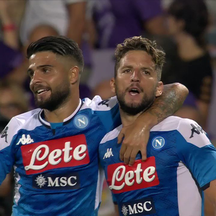 ⚽️ Primo gol della Serie A 19/20: @dries_mertens14 vs @acffiorentina https://t.co/YX7UPVajLU