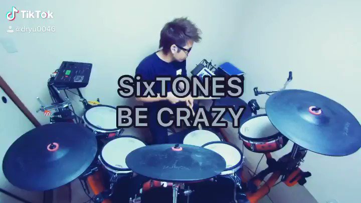 SixTONES/BE CRAZY 叩いてみた🥁今週のSixTONESはこの曲💎#SixTONES #ジャニーズ #ドラム #叩いてみた #ドラマー優