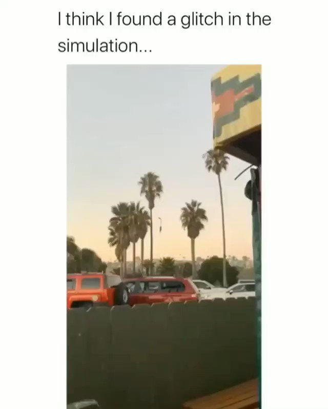 We're in a simulation, someone please ask Neo @wbpictures  Also I guess that's why Keanu isn't on twitter. #KeanuReeves pic.twitter.com/p7sgNxRIAl