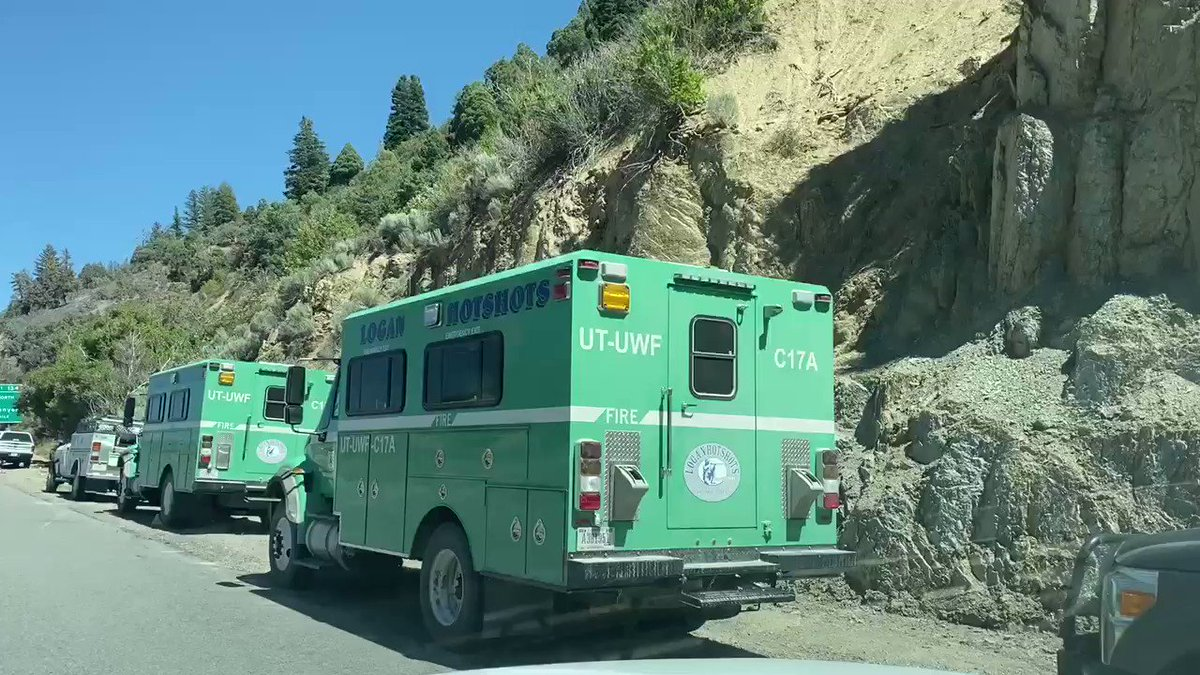 Image for the Tweet beginning: #Parleysfire update: 5:00pm  I-80 EB &