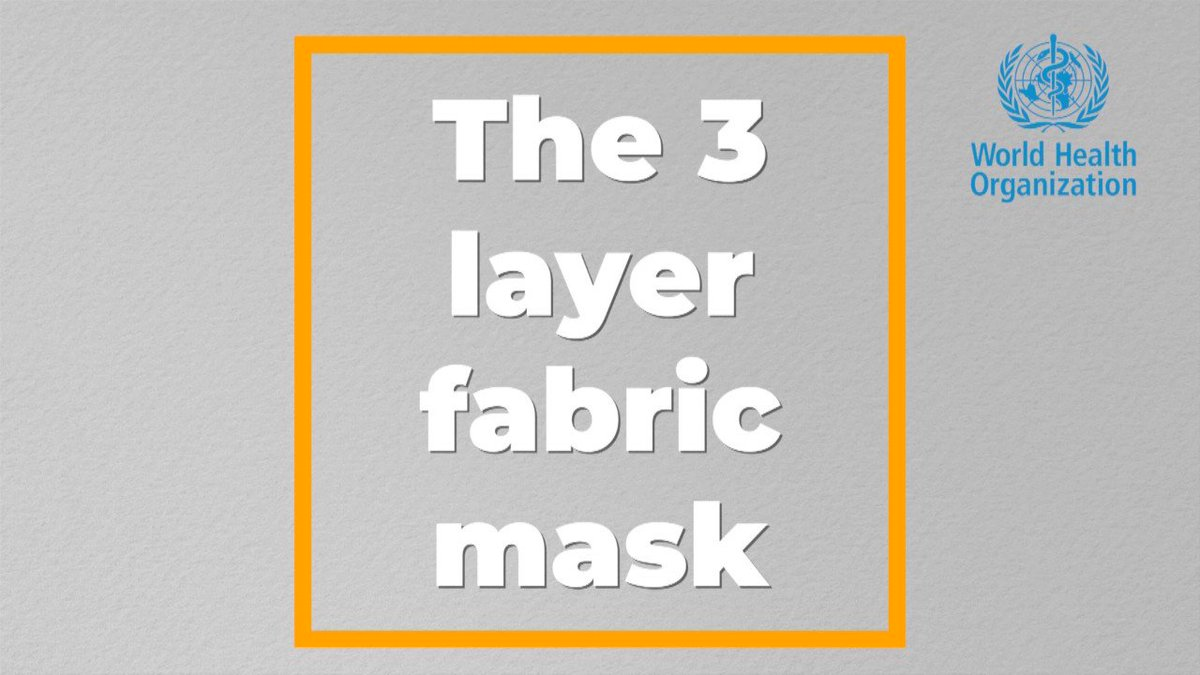 Watch this explainer about the three layers a fabric mask should have to protect you from #COVID19.  #WearAMask