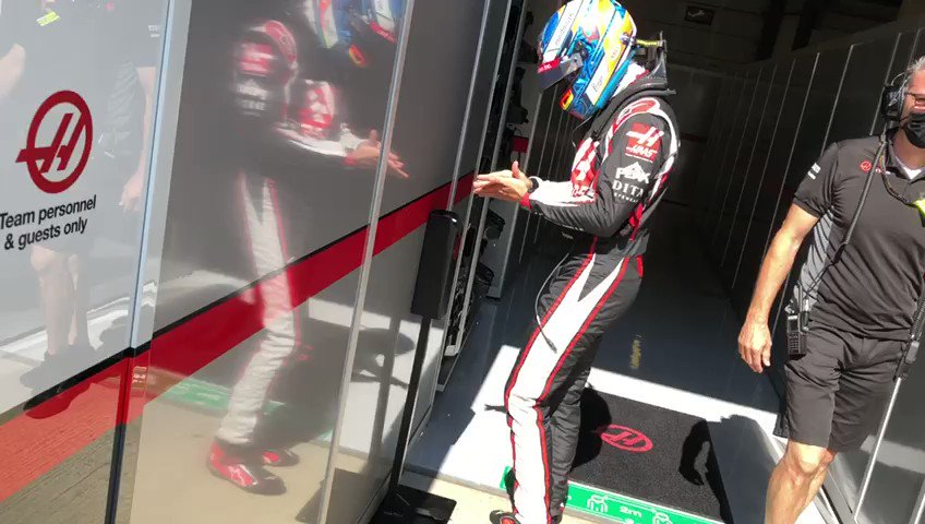 Image for the Tweet beginning: Sanitize, weigh + GO!  #FP3 time
