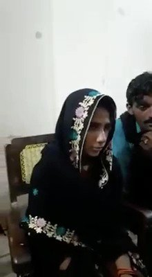 This video is the forced conversion & marriage of already married Hindu girl Kavita.#Pakistan gives Hindus their rights by abducting ther daughters,raping & forcefully convert them to Islam.Pakistanis claims to treat minorities better than any other country #stopforcedconversions https://t.co/LDv0c2lKgx