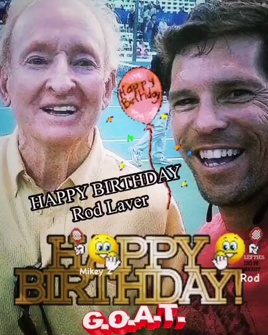 """here\s my \""""Rod Laver is the best\"""" story! HAPPY BIRTHDAY !"""