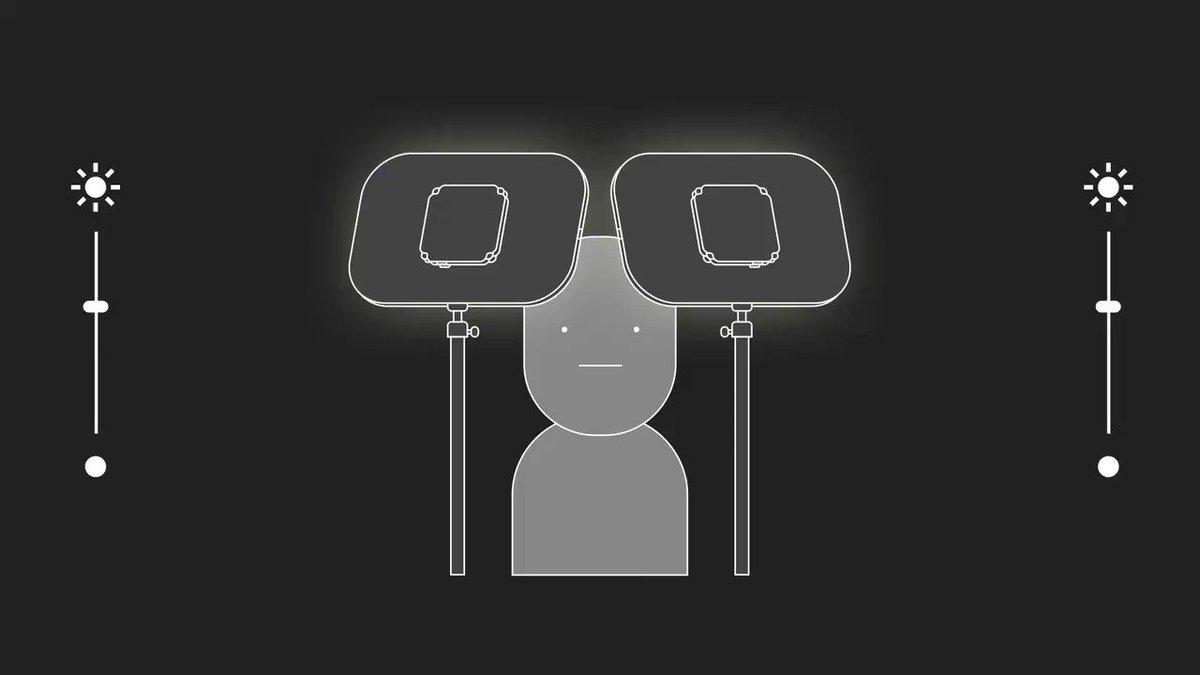 Pro Tip d'éclairage :   Placez vos Key Lights à un angle de 45 degrés avec une légèrement moins puissante que l'autre pour une scène plus percutante. https://t.co/sc7QYcfiHG