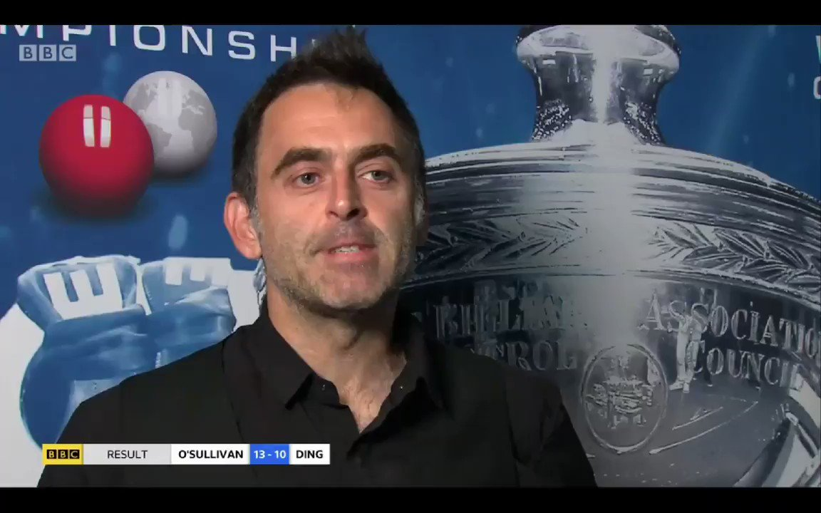 Ronnie O'Sullivan just straight up brutal on the reason for his longevity in snooker https://t.co/4bL5FAd1Cs