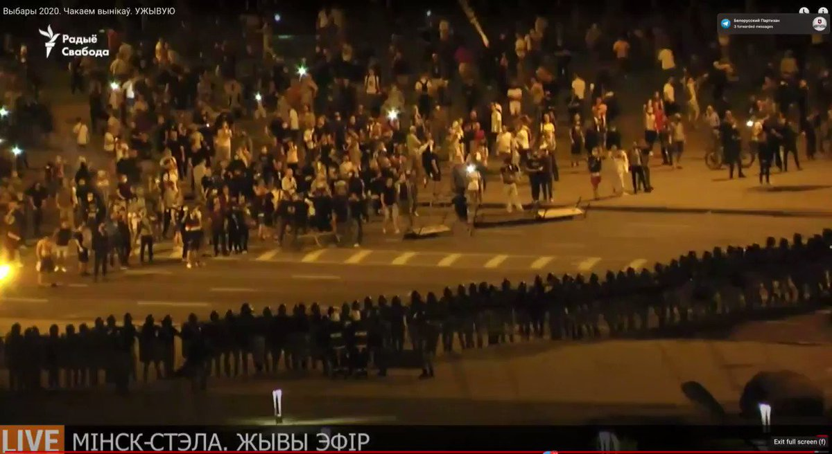 The dramatic video of the crackdown in Minsk. Happening now.
