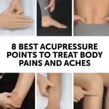 Do you know these 8 best acupressure points to great body pains and aches ? #MondayThoughts