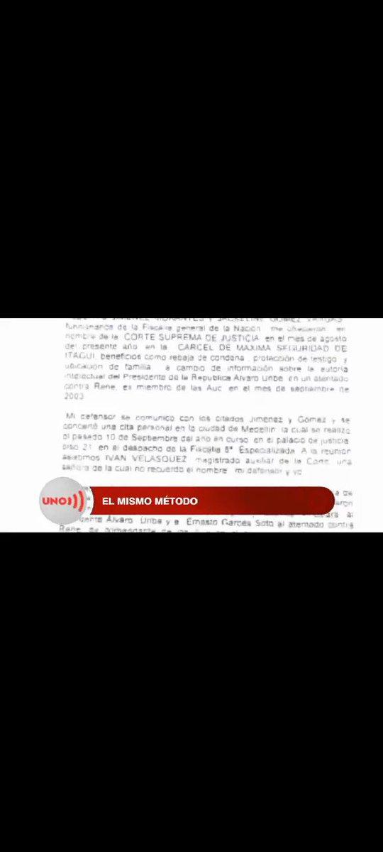 El Paramilitar José Orlando Moncada ACEPTA que le ofrecieron una casa para atacar al Magistrado Iván Velázquez. Para desacreditar la Corte Suprema de Justicia @CorteSupremaJ   Vía @NoticiasUno https://t.co/SeN6ykbOVq