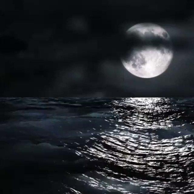 Moon On Sea At Night 💙