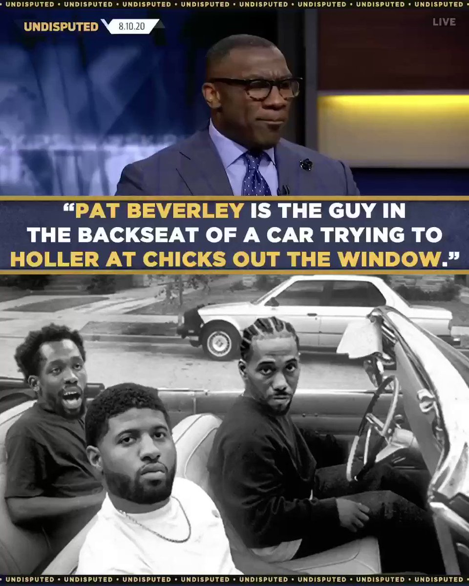 Bruh, you're not driving or in the passenger seat. Pat Bev is the 4th or 5th best player on the team & does more talking than anybody. He's carved out a nice niche, but he's no Gary Payton. https://t.co/YtFQVf0QHQ
