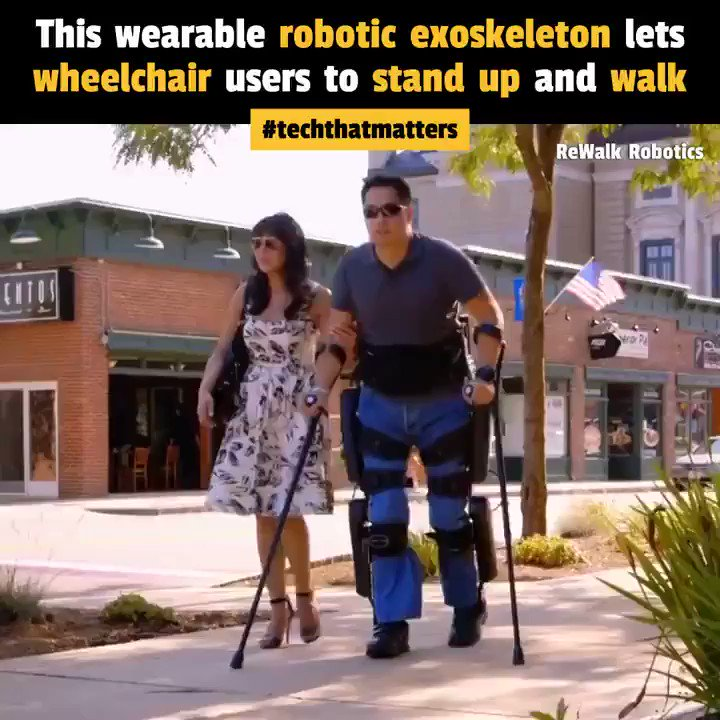 Image for the Tweet beginning: This wearable robotic exoskeleton enables