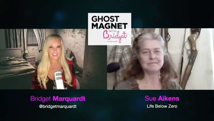 Hey guys! 👻🧲New Ghost Magnet podcast episode👻🧲 This week I am chatting with @SueAikens from @NatGeo #lifebelowzero...we are chatting about everything from bear 🐻 attacks to ghosts 👻and ufo encounters 👽!! Scary! 😱 Available on: Apple podcasts  Spotify IHeartRadio   #ghost https://t.co/g56Ir0iLLq