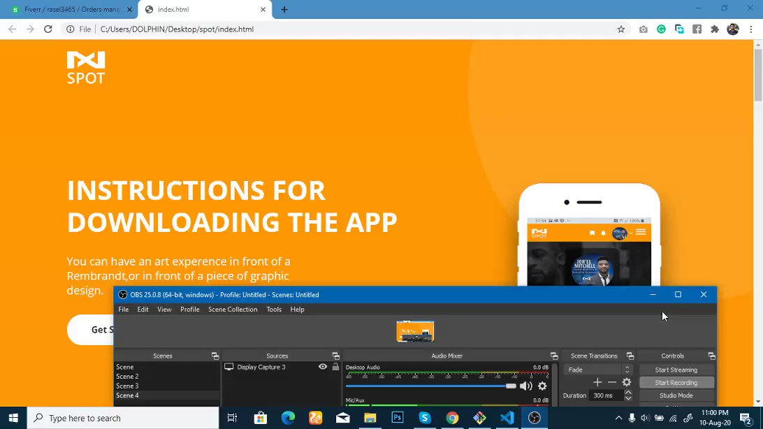 #100DaysOfCode #Entrepreneur #startup #founders Day:  A new design has been completed today Project: spot Landing page for a mobile app.  #FrontEndDevelopment  #CodeNewbie  #CSS3 #Website #javascript #DEVCommunity  #codinglife   #responsivepic.twitter.com/HQjpclNr6u