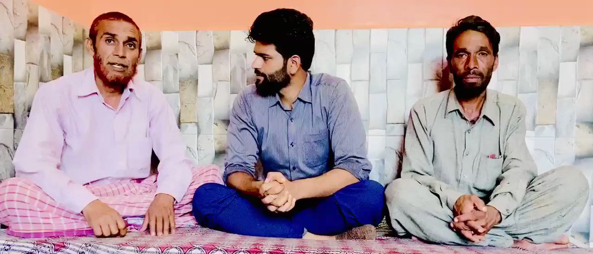 Pain can be felt in the voice of Father of Abrar Ahmed & Father of Imtiyaz Ahmed. Yesterday family came to know that they were killed in Shopian @islahmufti @nazir_masoodi @AzaanJavaid Family demanded probe @JmuKmrPolice. Speak up for Rajouri boys.