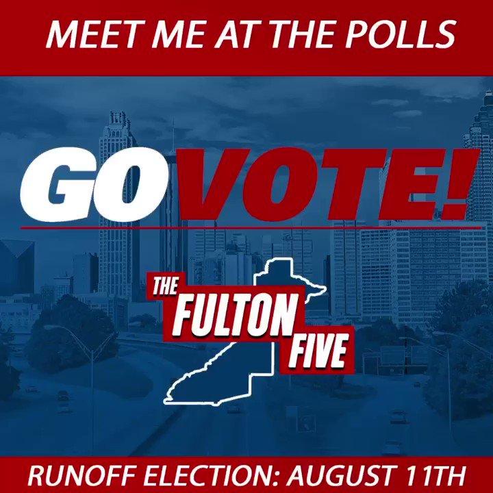 Election Day #ATL get out and vote for #TheFultonFive PAT LABAT, PAUL HOWARD, MELYNEE LEFTRIDGE HARRIS, FRANCHESCA WARREN AND MANDISHA THOMAS. WRITE THESE NAMES DOWN! @labatforsheriff @keeppaulhowardda @melyneeforjudge @electfranchesca @thomasfor65 #VOTE #ATLANTA