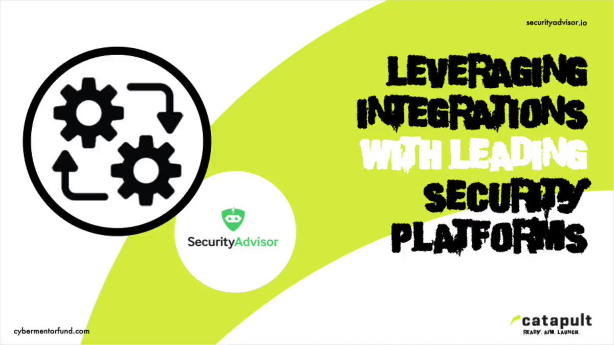 Image for the Tweet beginning: By leveraging integrations, SecurityAdvisor can