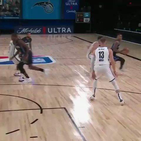 #NBA #WholeNewGame   Fultz engañó a la defensa de los Nets y terminó con la bandeja pasada.  🎥NBA https://t.co/UOjrNsmLHL