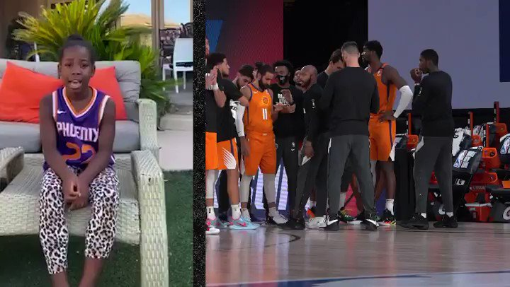 I'm not crying... you are   We surprised the team with starting lineups announced by their families at home 💜🧡 https://t.co/xjtwYS7RN1