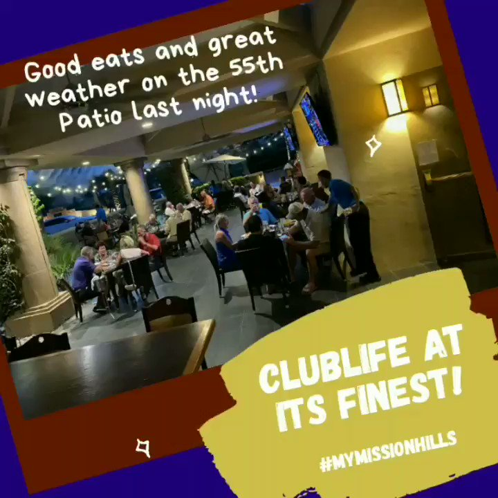 Living the Club life outdoors at the 55th Patio 👨‍🍳 🌌 Here, you're family 😊Membership inquiries contact Debra.Ramos@clubcorp.com or call 760-883-1638. #mymissionhills #clubcorp #golf #tennis #golfcourse  @RMChamber_ https://t.co/JY99jRc0R5