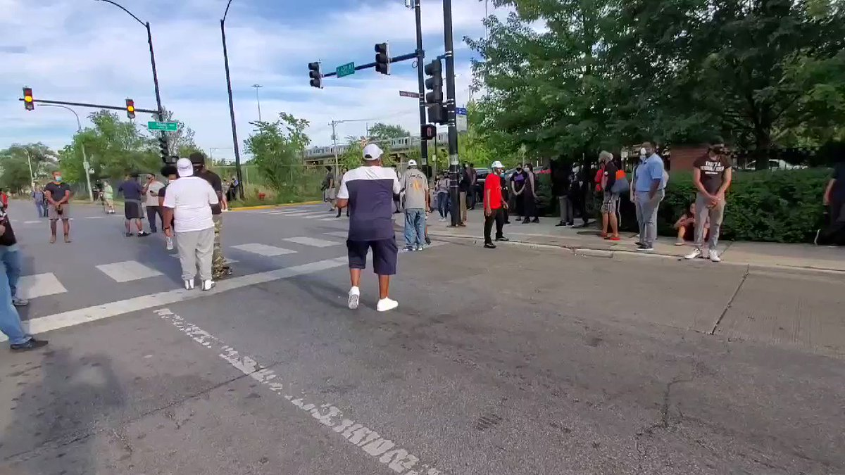 Chicago black community activists scold Black Lives Matter protesters and ask them to leave, asking them where they are when kids have been killed?