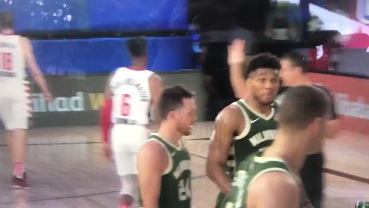 Giannis headbutts Moe Wagner LMAO https://t.co/AW9BBHig7E