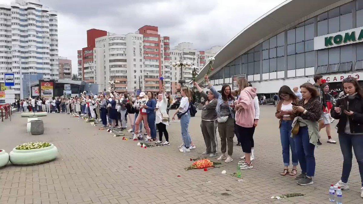 Image for the Tweet beginning: Women all across #Belarus are