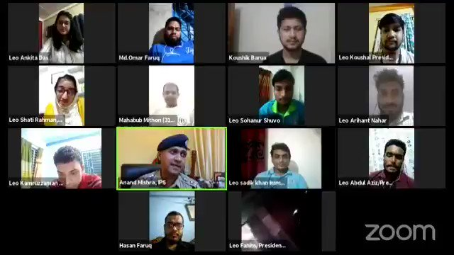 We celebrated #InternationalYouthDay in an Int. Webinar- Fellowship Beyond Border where @anandmishraips inspired Leos from #India & #Bangladesh about ill effects of #DRUGS and role of Youth. Full video on:- https://t.co/KQZ3e6RRAU  #thefutureisleo #leodistrict322g #weserve https://t.co/fO4lSJLiZ0