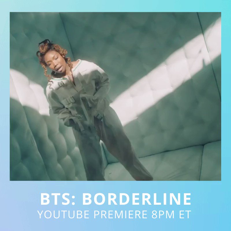 Chat with me during my @Youtube premiere Tuesday, Aug 18 @ 8pm ET/ 5 pm PT. My newest video will take you behind the scenes of #Borderline.