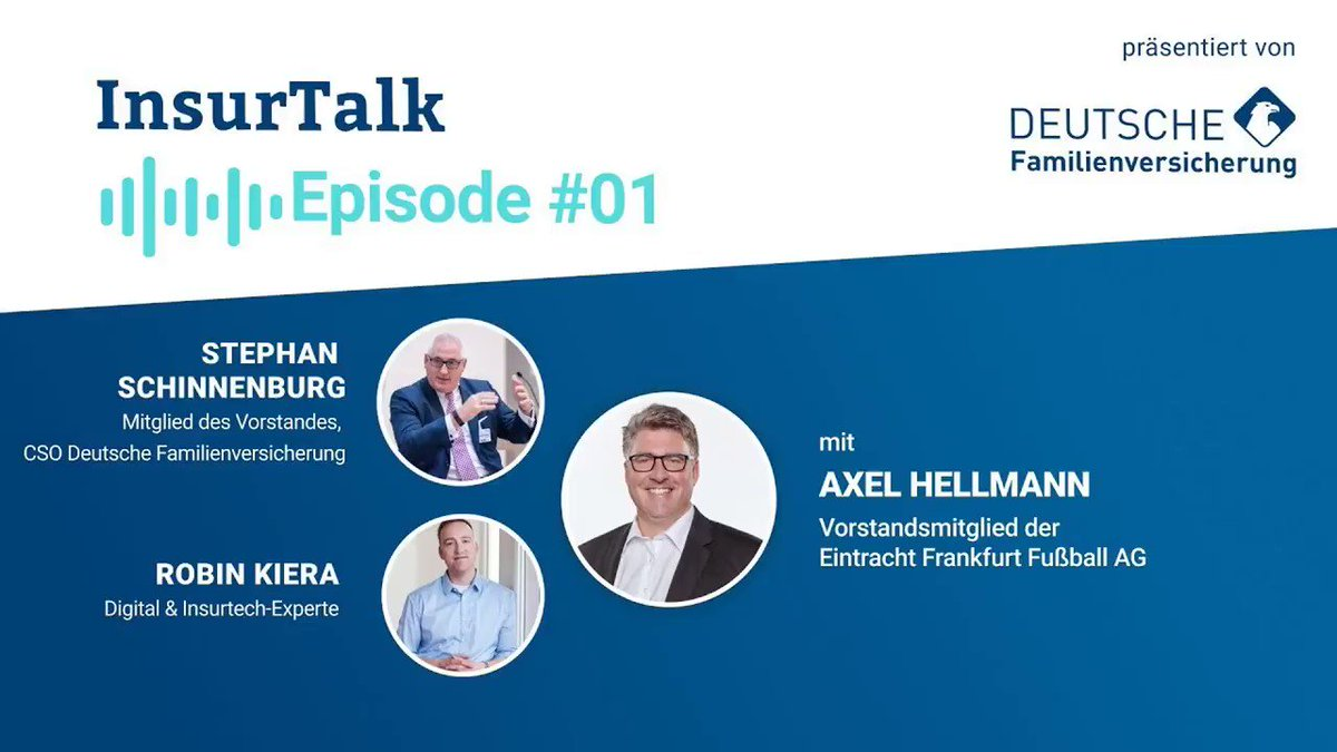 Soccer and #insurance - is more than a sponsoring relationship. See @STSberlin60 CSO of @DFV_AG and @Hellmann1899 of @eintracht (also @eintracht_eng @eintracht_us) talk about what #insurer can learn from a professional soccer club. The full podcast here: insurtalk.podigee.io