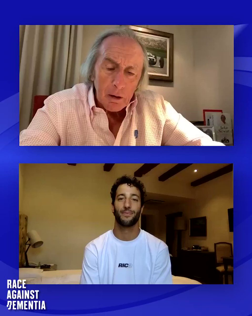 Go and watch Episode 7 of #Memories with Sir Jackie, @danielricciardo and his huge smile.  Visit https://t.co/jQLmKidrBW for the full episode!  #Memories - Support our fight to protect yours  #RaceAgainstDementia #Dementia #Alzheimers #Formula1 #F1 #Ricciardo