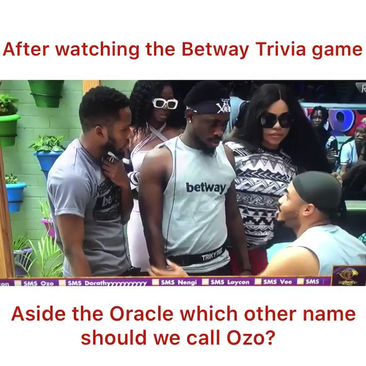 Brain box!💡🧠 Ozo answering questions tactfully for his team in the @BetwayNigeria trivia games. If you don't stan this young man, then I'm really sorry 🤷🏽‍♂️ #OisForOzo #BBNaija