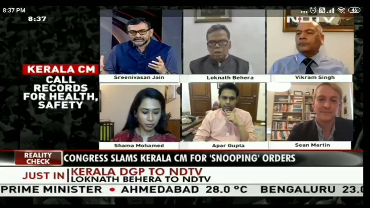 Watch Dr Shama Mohamed speaking on the rise of surveillance state in Kerala during pendamic @drshamamohd @rssurjewala