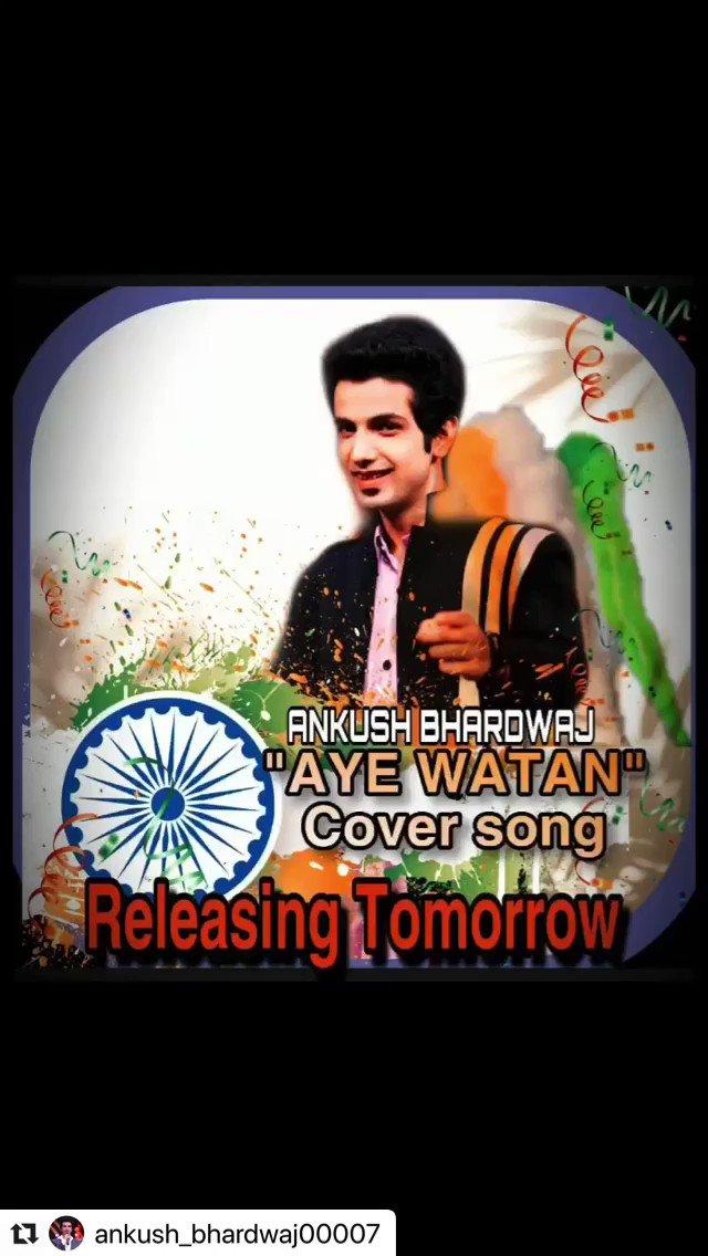 #Instagram #Repost @ANKUSH_00007 ••• #AYEWATAN #cover #song *Releasing tomorrow * #independenceday #army #music ❤️😃 . Subscribe to #YouTube #channel 👉🏻 ANKUSH BHARDWAJ MUSIC 👍🏻 (LINK IN BIO) #India #JaiHimd #JaiBharat . @Ankush_Fanclub https://t.co/eW4XFel2u7