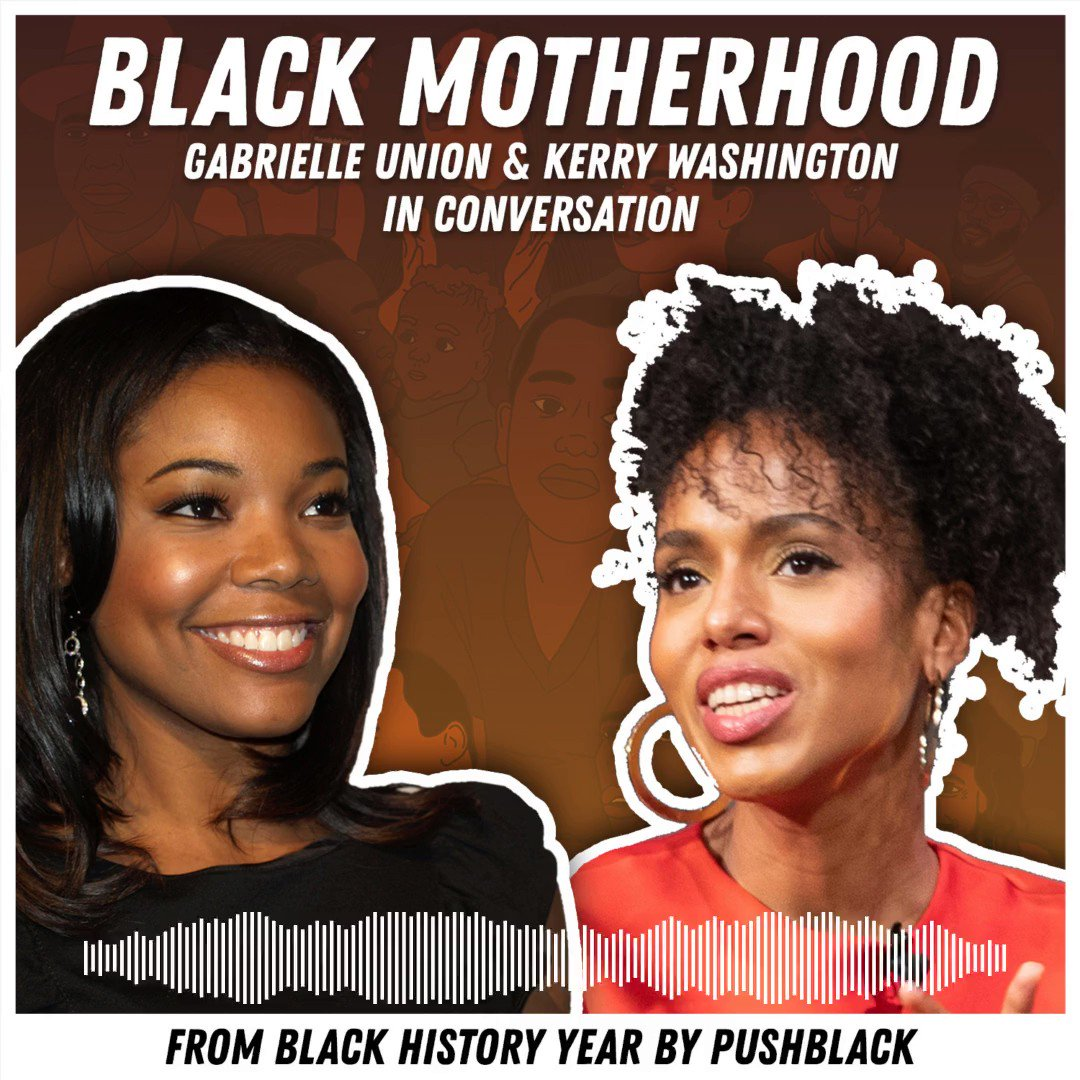 @kerrywashington and @itsgabrielleu bring an inspiring level of wisdom, humility, humor and Black pride to this special conversation on Black motherhood on our #BlackHistoryYear podcast. Click the link to listen now! ✊🏿 🎧