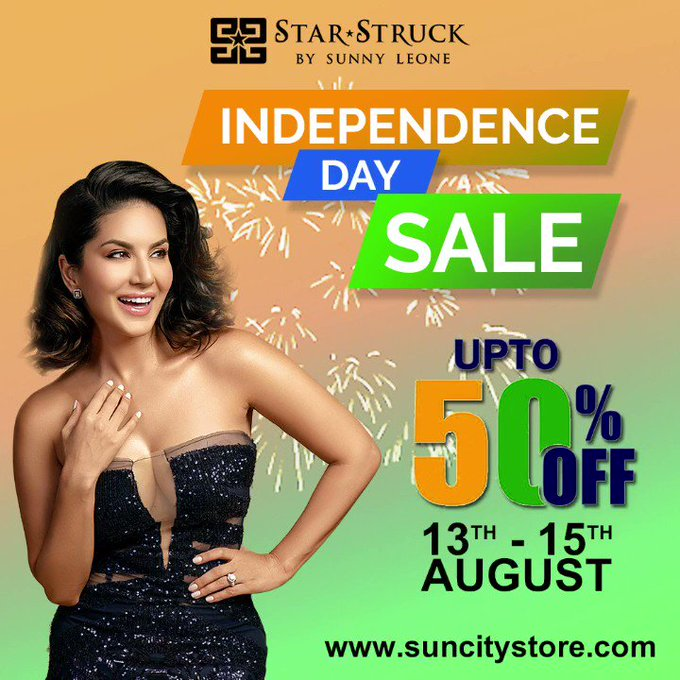 🇮🇳Wishing you all a Happy Independence Day🇮🇳  💋Shop your Favourite Cosmetics by @starstruckbysl at upto