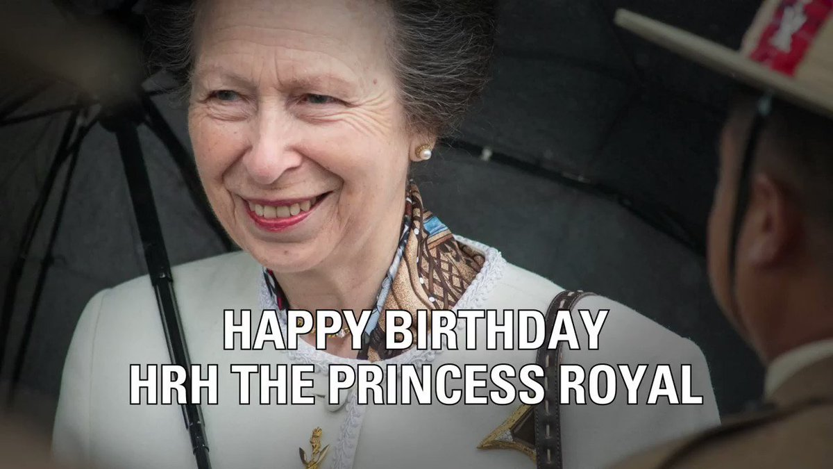 Image for the Tweet beginning: Today is HRH The Princess