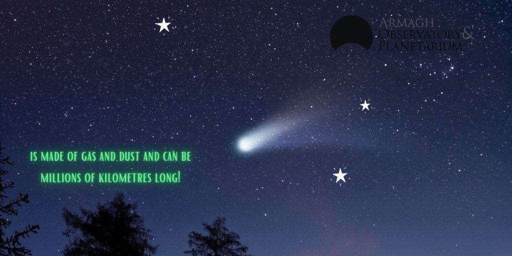 Did you know a comet can have more than one tail?  #ScienceUnlocked #ScienceCentresForOurFuture #Armagh #Comet https://t.co/ju9OB46UlY