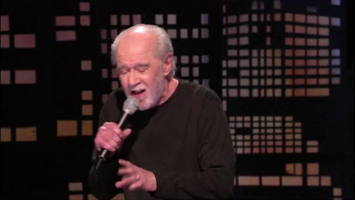 Replying to @ACTBrigitte: Wow. It's like George Carlin is talking about everything going on today.